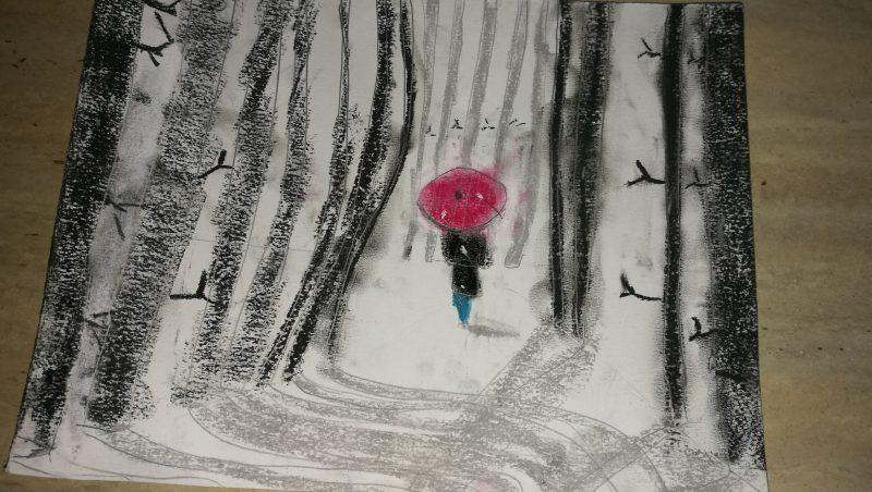 Paula Ponce, es una niña malagueña de 6 años con grandes habilidades para la pintura.