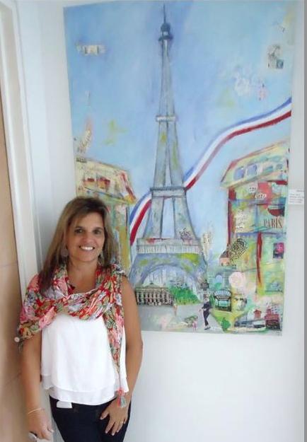 Galería virtual de arte de Mary de Sojo agencia de Marca Personal y Branding para pintores-Gloria Möller Tour Eiffel Gloria Möller-