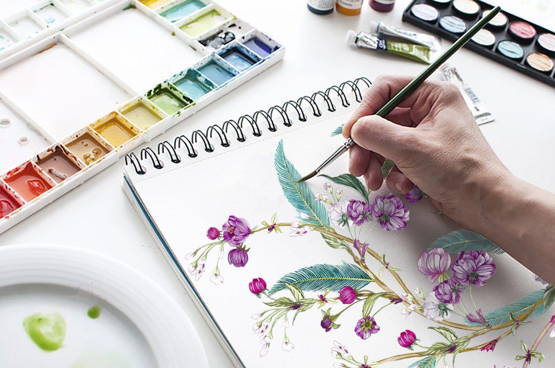 Dibujando y Pintando . Elegancia y Creatividad de Covadonga Jaquete en Good Talks by Mary de Sojo